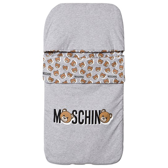 Moschino Kid-Teen Logo Footmuff Grey 60926