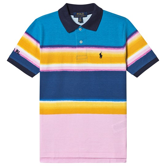 Ralph Lauren Multi Tie Dye Short Sleeve Polo with Small PP 001