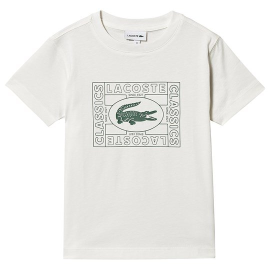 Lacoste Heritage Stamp Logo T-shirt Cream