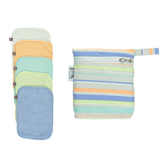 Close 10-Pack Pop-In Reusable Wipes Pastel pastel