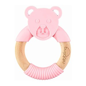 Image of Nibbling Bear Forest Friend Natural Gumme Legetøj Pink One Size (1547824)