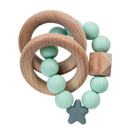 Nibbling Stellar Natural Teething Toy Mint Mint