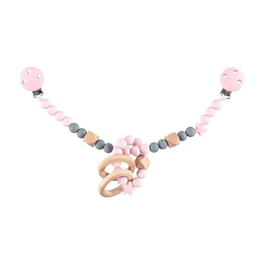 Nibbling Stroller Toy Chain Pink Baby Pink