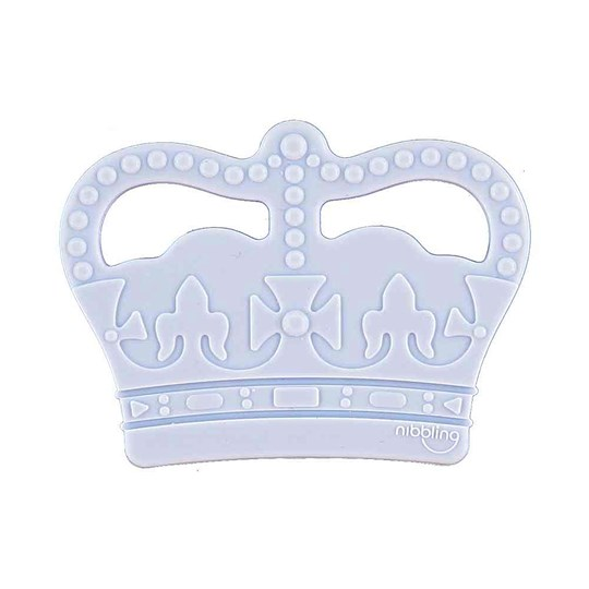Nibbling Crown Silicone Teether Blue Blue
