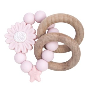 Image of Nibbling Blomsterformet Rangle Ring Pink One Size (1547828)