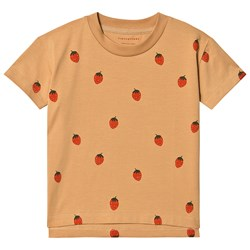 Tinycottons Strawberries Tee Toffee/Red