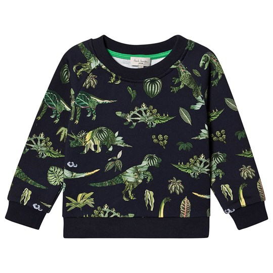 Paul Smith Junior Jungle Dinosaur Sweatshirt Navy 492