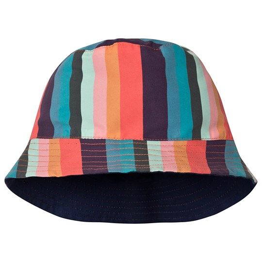 Paul Smith Junior Reversible Bucket Hat Navy/Multicolor 920