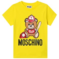 Moschino Kid-Teen Baseball Bear Logo T-shirt Gul