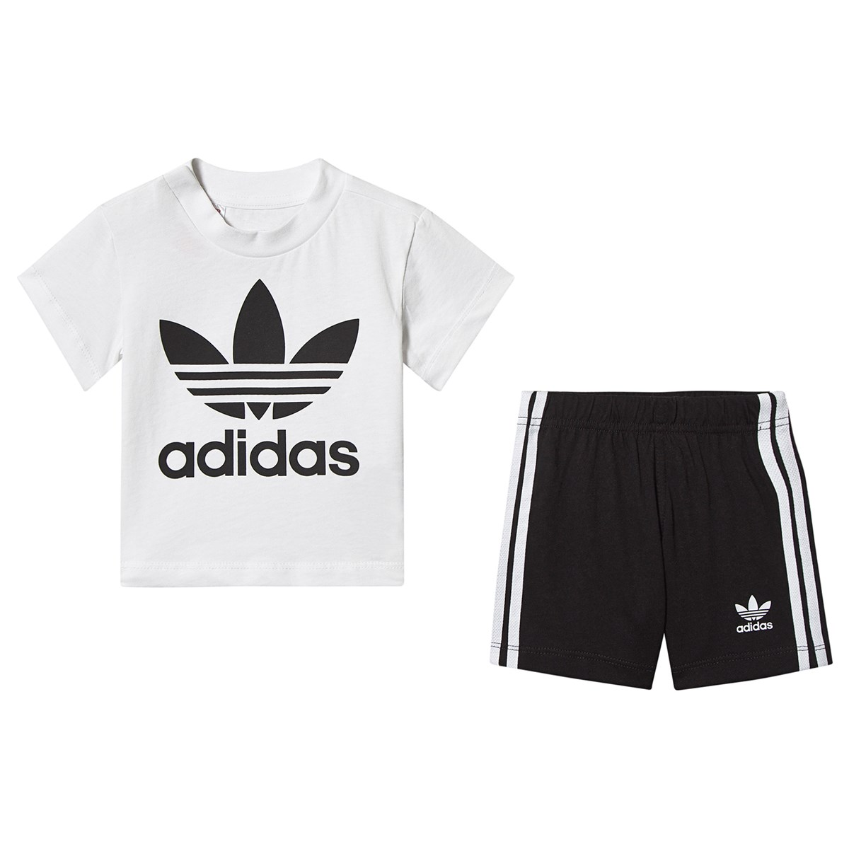 adidas Originals Short Tee Set Babies White and