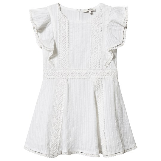 Cyrillus Lace Detail Fozia Dress White Blanc Doux