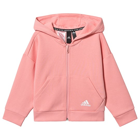 adidas Performance 3 Striber Cropped Hættetrøje Pink glory pink/white