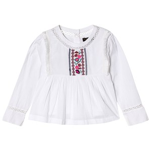 Image of Velveteen Broderet Voile Bluse Hvid 3 years (1539511)