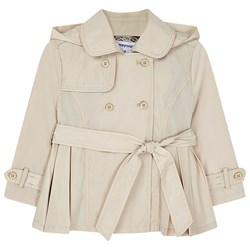 Mayoral Double Breasted Trench Coat Beige