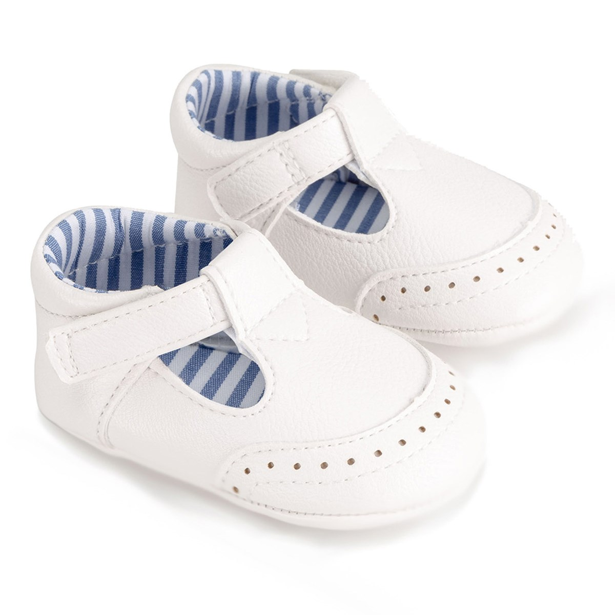 Mayoral - T-Bar Baby Shoes White