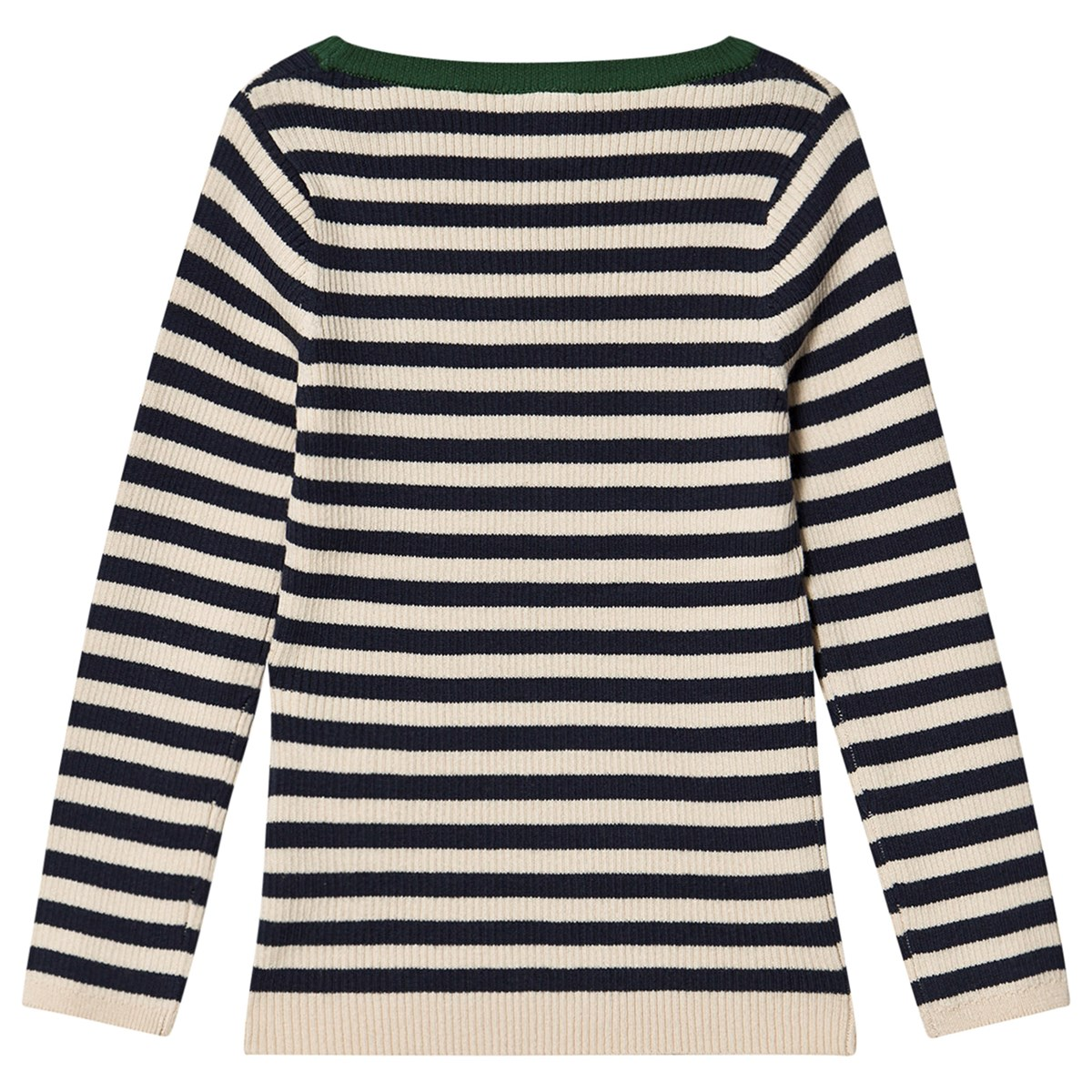 Navy olive striped sweater