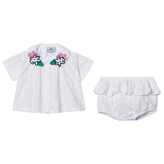 Raspberry Plum Sunshine Blouse and Bloomer Set White White