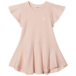 Image of Chloé Arabesque Logo Jersey Dress Pale Pink 10 years (1548140)