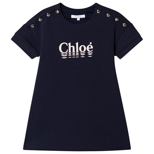 Chloé Logo Sweat Dress Navy 849