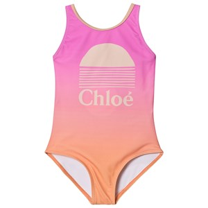 Image of Chloé Solnedgang Logo Badedragt Ombre Pink 2 years (1548237)