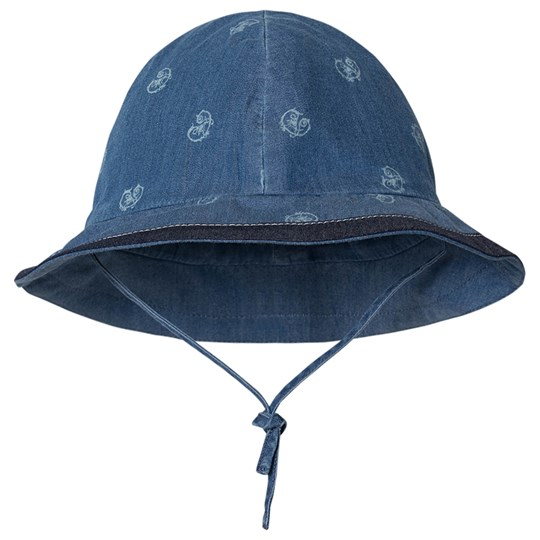 Chloé Arabesque Logo Bucket Hatt Blue Denim Z10