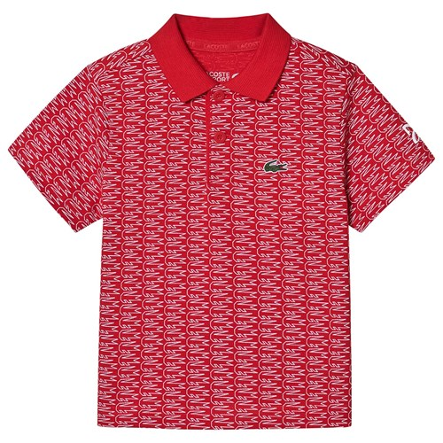 Lacoste Crocodile Novak Djokovic Polo Shirt Red Babyshop Com