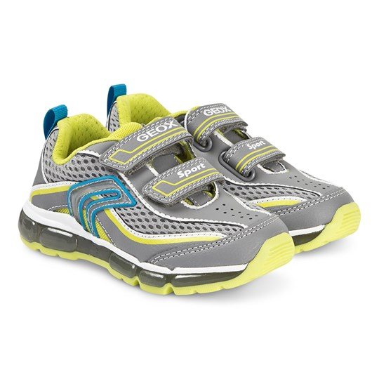 Geox Android Sneakers Grey/Lime Green