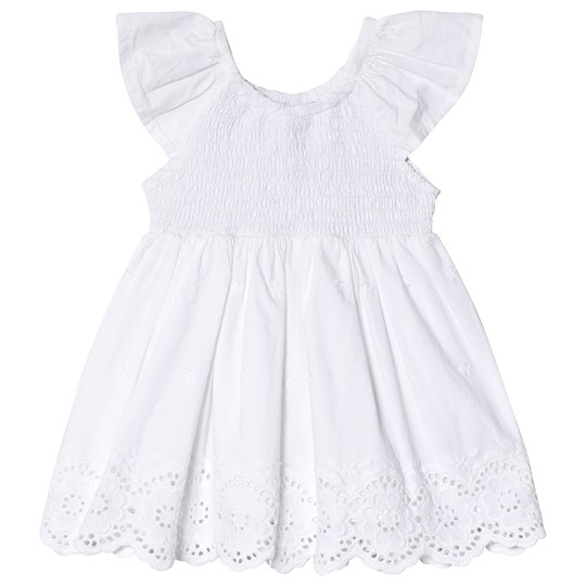 Mayoral Anglaise Embroidered Dress White 10