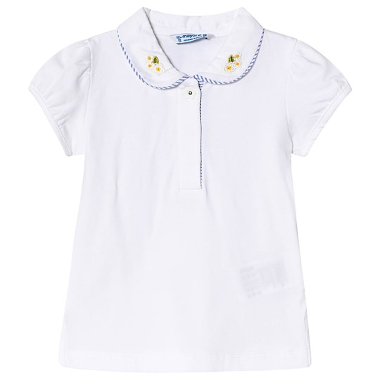 Mayoral Embroidered Collar Detail Top White 66