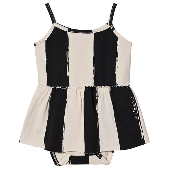 Noe & Zoe Berlin Randig Baby Body och Klänning Svart/Vit black stripes XL