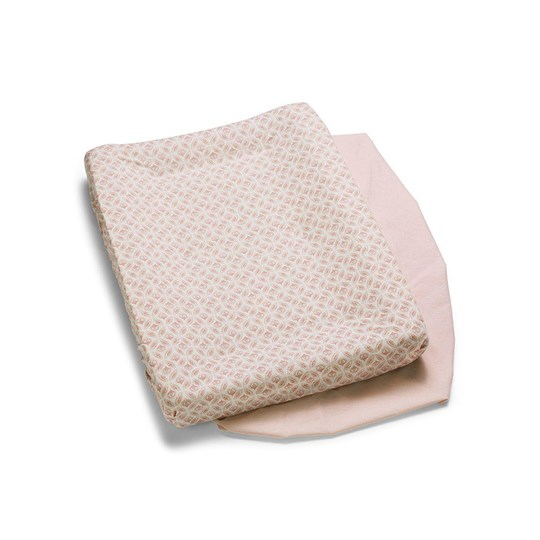 Elodie 2-Pack Changing Pad Covers Sweet Date Pink/White