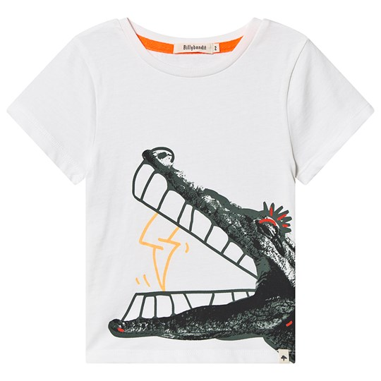 Billybandit Crocodile Graphic Print Tee White 10B
