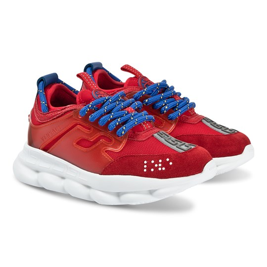 Versace Chain Reaction Sneakers Red/Blue YY13