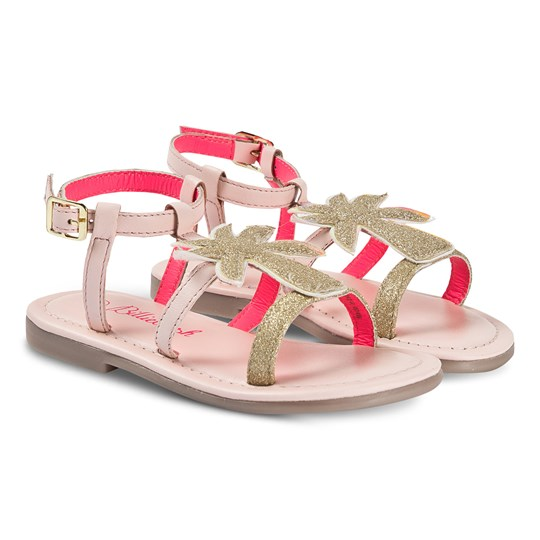 Billieblush Glitter Palm Tree Sandal Pink/Gold 46F