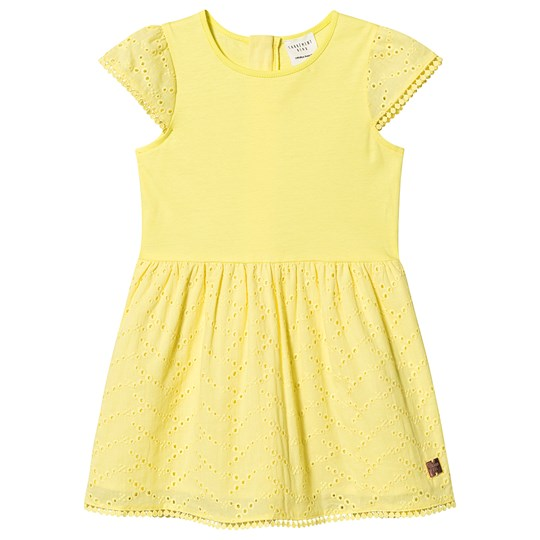 Carrément Beau Embroderie Anglaise Dress Yellow 537