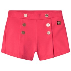 Carrément Beau Milano Shorts with Gold Button Detail Pink