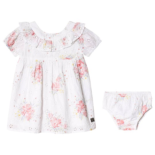 Carrément Beau Anglaise Floral Print Dress and Bloomers White 10B