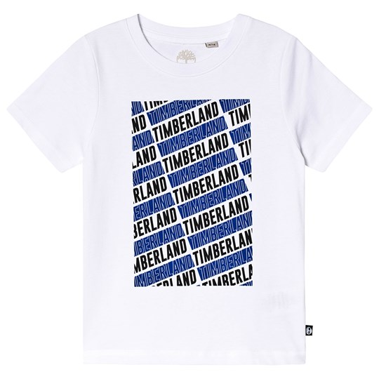 Timberland Multi Branded Tee White/Blue 10B