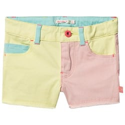 Billieblush Color Block Denim Shorts Gul/Rosa/Teal