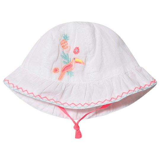 Billieblush Toucan Embroidered Sun Hat White 10B