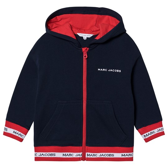 The Marc Jacobs Varsity Tape Logo Hoodie Navy/Red 849