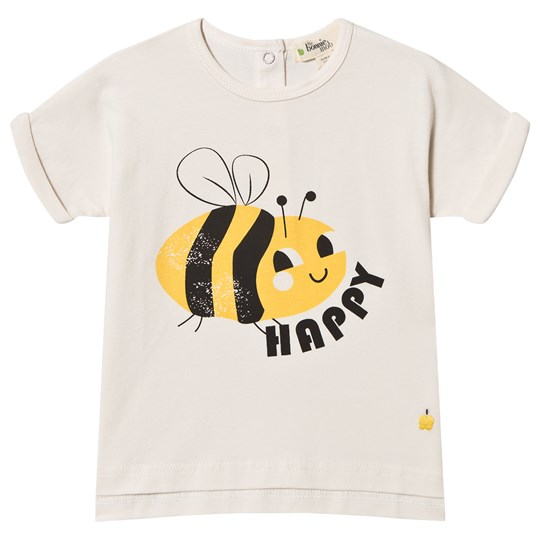 The Bonnie Mob Bee Happy Barbados T-Shirt Off White Bee Happy
