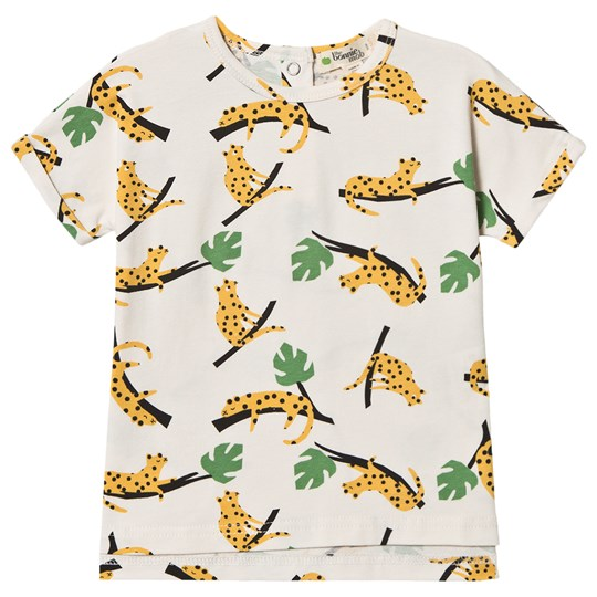 The Bonnie Mob Mustard Leopard Barbados T-Shirt Off White MUSTARD LEOPARD