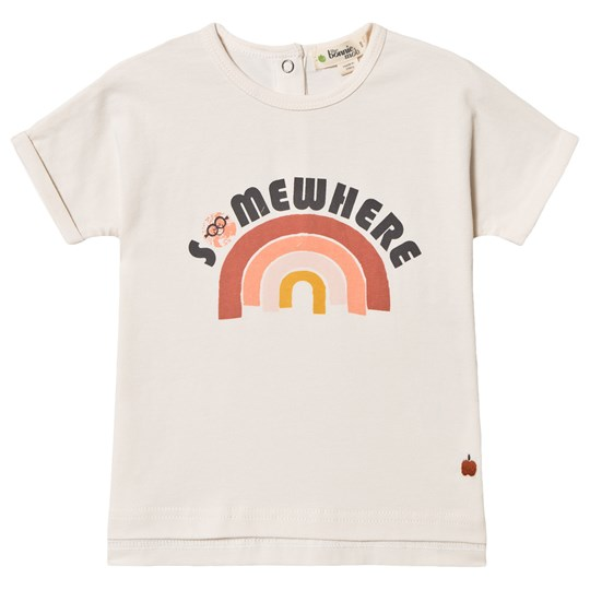 The Bonnie Mob Peach Rainbow Barbados T-Shirt Off White PEACH RAINBOW