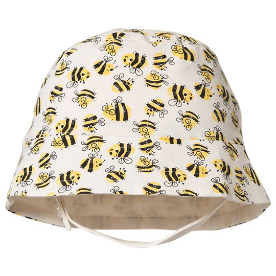 The Bonnie Mob Bees Bigsur Sun Hat Off White BEES