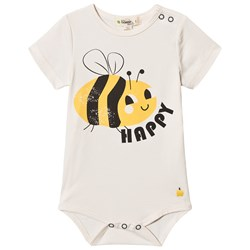 The Bonnie Mob Bee Happy Cabo Baby Body Off White