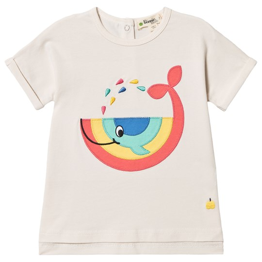 The Bonnie Mob Whale Isle De Re T-Shirt Off White Whale