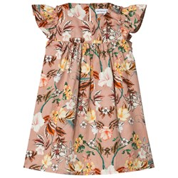 Christina Rohde Floral Dress Dusty Rose