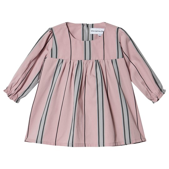 Christina Rohde Stripe Baby Kjole Dusty Rose 7