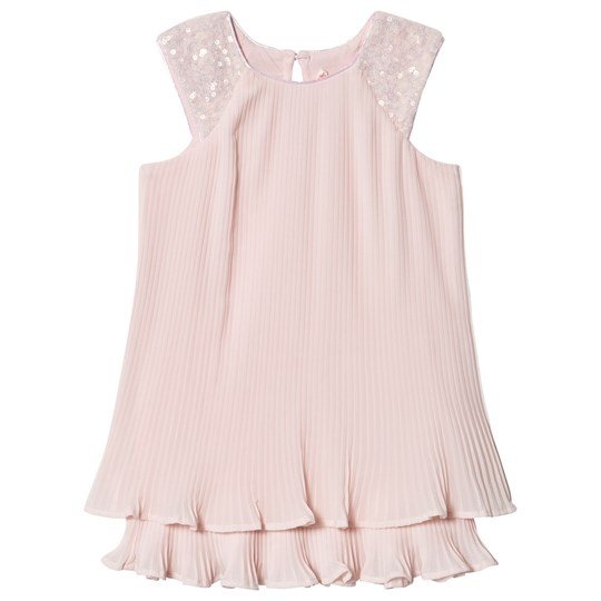 Billieblush Pleated Dress with Sequin Shoulder Pink 46F